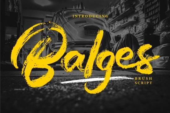 Balges Font free download