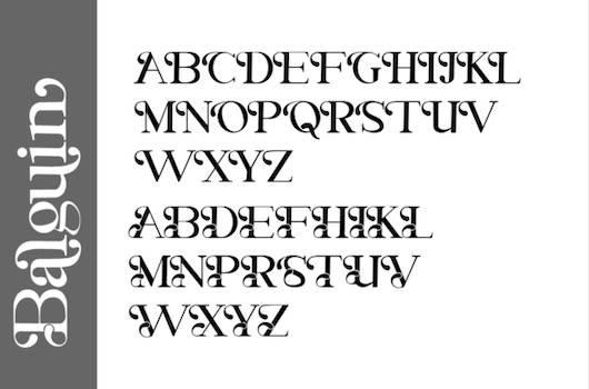 Balguin Font free