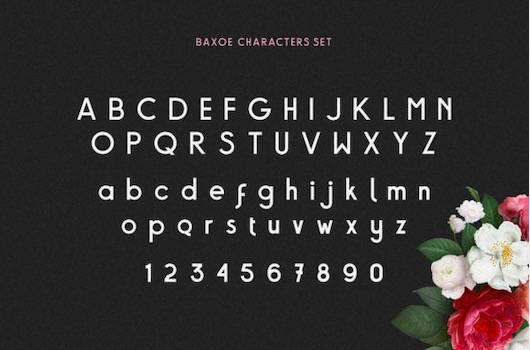 Baxoe Font download