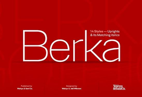 Berka font free download