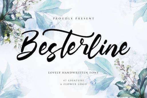 Besterline Font free
