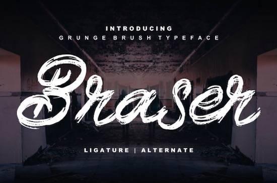 Braser font free download