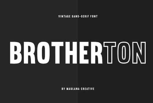 Brotherton font free download