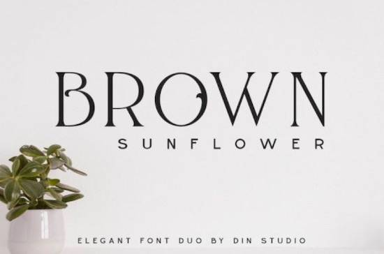 Brown Sunflower Font Duo free download