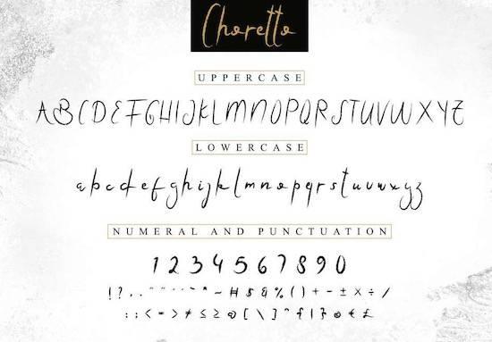 Choretto Demo Font