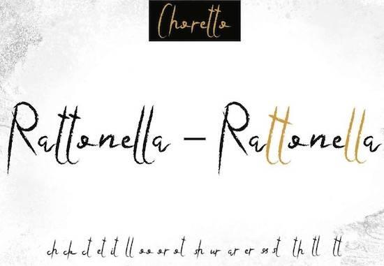 Choretto Demo Font free