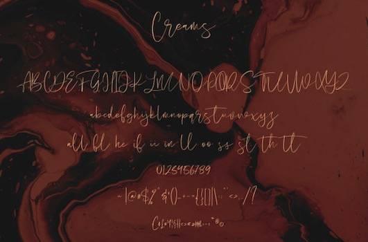 Creams font