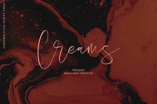 Creams font free download