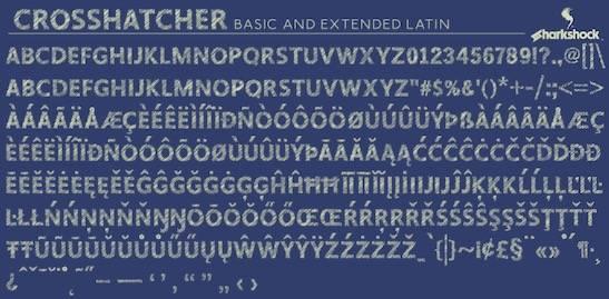 Crosshatcher Font free