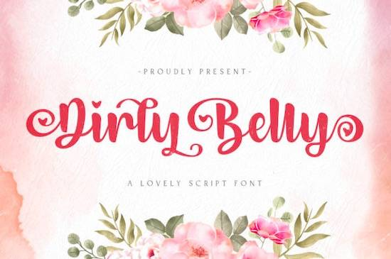 Dirly Belly font free download
