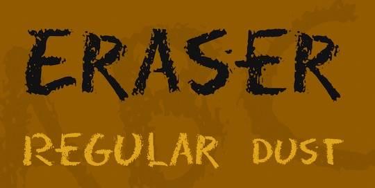 Eraser Font Family free