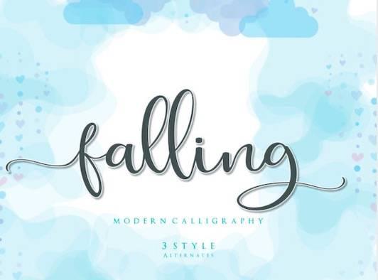 Falling Font free download