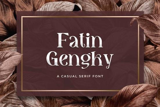 Fatin Gengky font free download