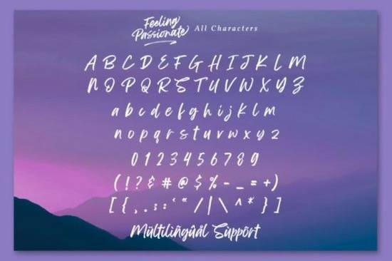 Feeling Passionatefont download