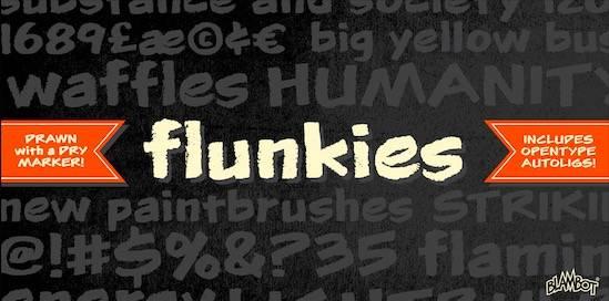 Flunkies BB Font free