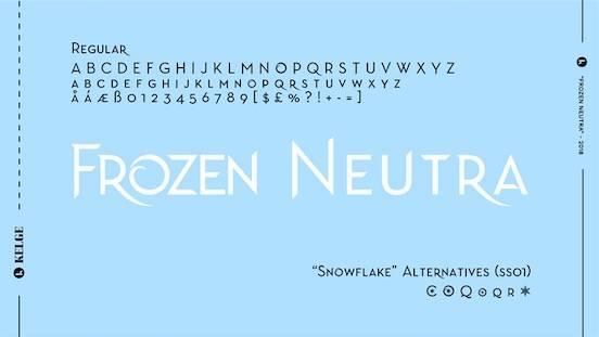 Frozen Neutra font free