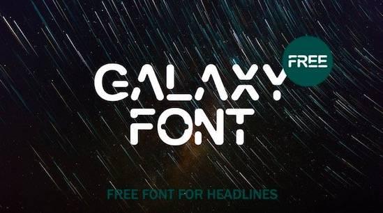 GALAXY font free download