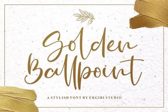 Golden Ballpoint font free download