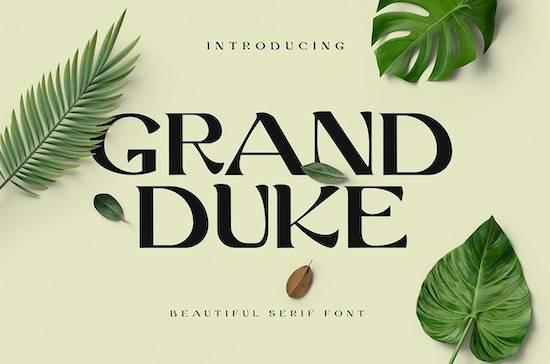Grand Duke Serif Font