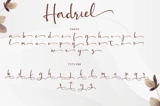 Hadriel font