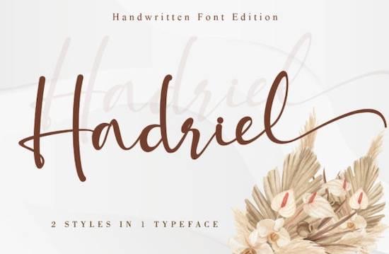 Hadriel font free download