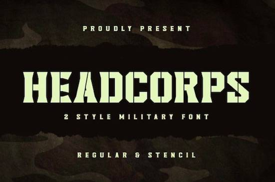 Headcorps font free download