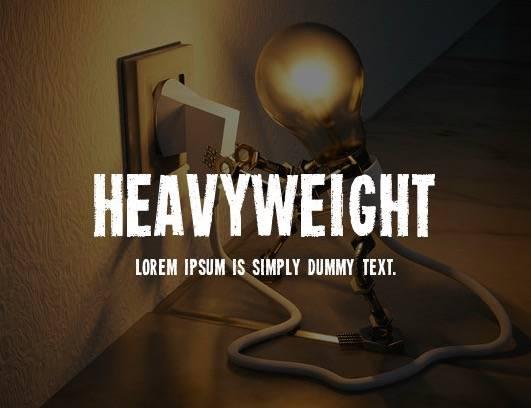Heavyweight Font download