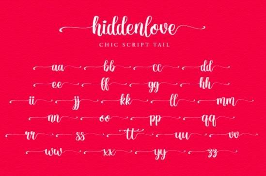 Hiddenlove font free
