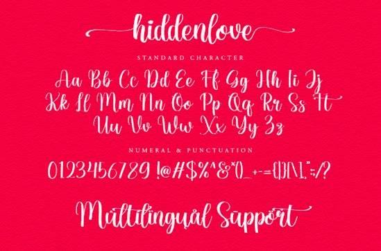Hiddenlove font