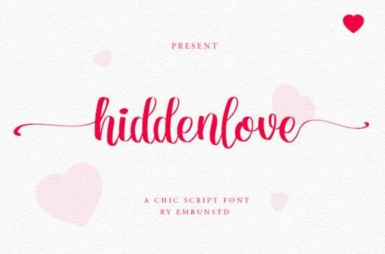 Hiddenlove font free download