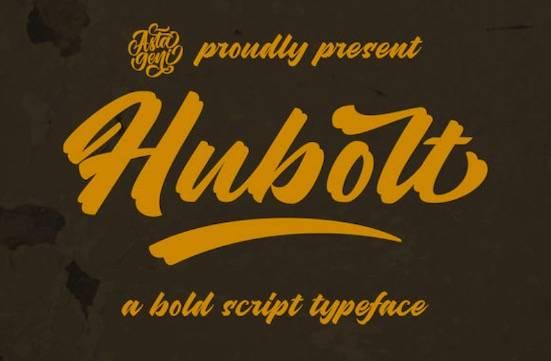 Hubolt Bold font free download