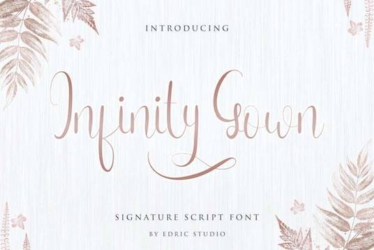 Infinity Gown Font free download