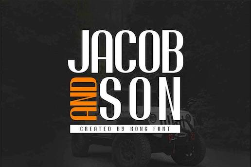 Jacob And Son Font free download