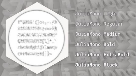 JuliaMono Font Family free