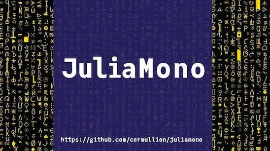 JuliaMono Font Family download