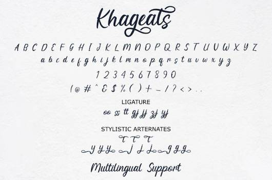 Khageats Font