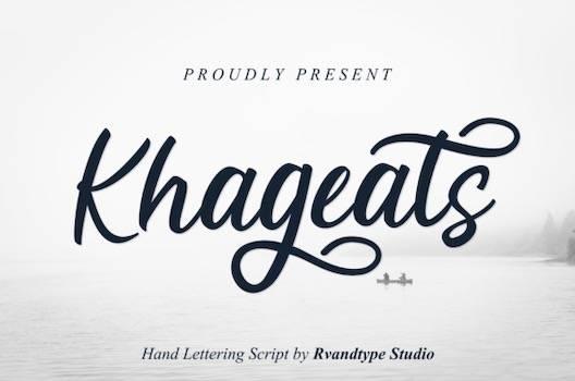 Khageats Font download
