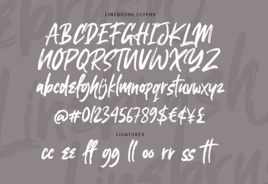 Linebrush Font free