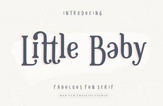 Little Baby font free download