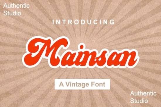 Mainsan font free download