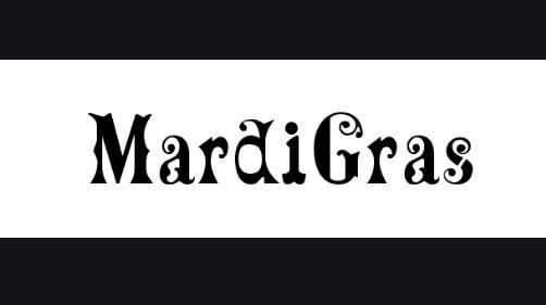 Mardi Gras font features
