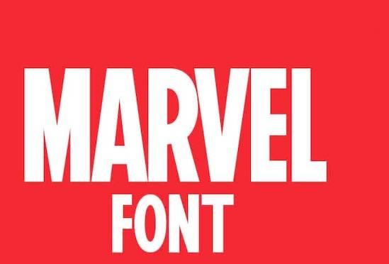 Marvel font free
