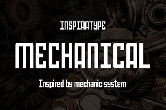 Mechanical font free download