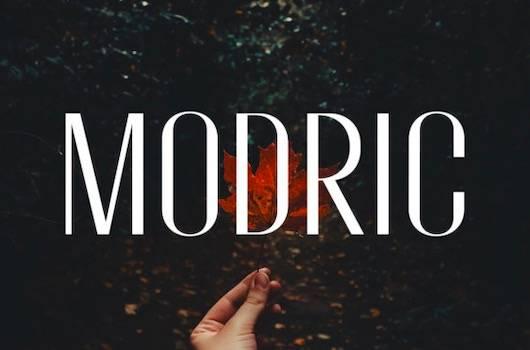 Modric font download