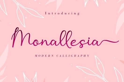 Monallesia Font free download