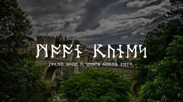 Moon Runes font free