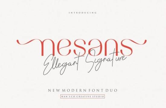 Nesans font duo free download