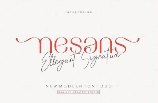 Nesans font duo free download