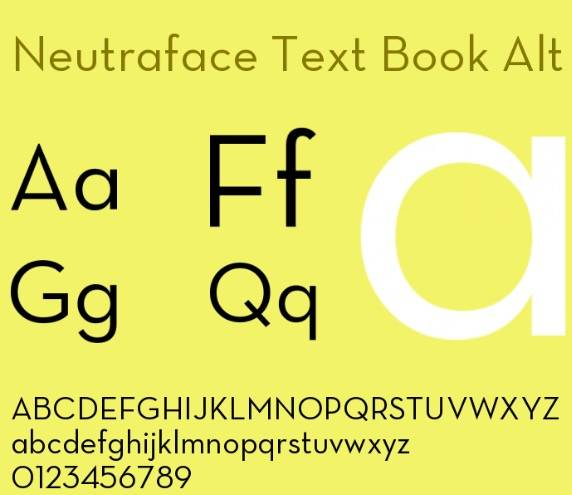 Neutraface font