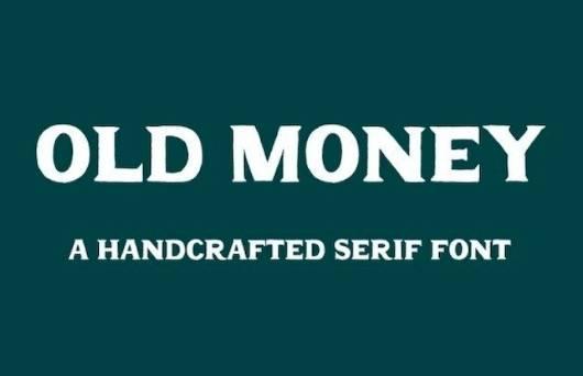 Old Money Font download